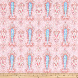 Isabelle Paisley Pink Fabric