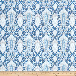 Isabelle Paisley Blue Fabric