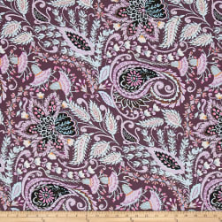 Isabelle Ornate Plum Fabric
