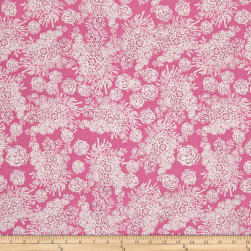 Tina Givens Rose Water Breakfast Room Raspberry Fabric