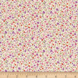 Kaufman Sevenberry Bouquet Med Flower Lilac Fabric