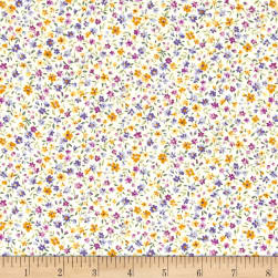 Kaufman Sevenberry Bouquet Med Flower Spring Fabric