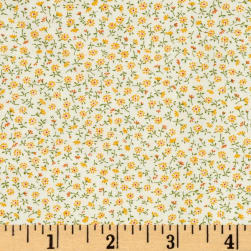 Kaufman Sevenberry Petite Garden Buds Yellow Fabric