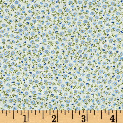 Kaufman Sevenberry Petite Garden Buds Blue Fabric