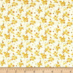 Kaufman Sevenberry Petite Garden Tiny Buds Yellow Fabric