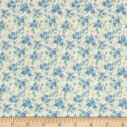Kaufman Sevenberry Petite Garden Tiny Buds Blue Fabric