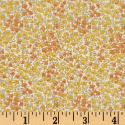 Kaufman Sevenberry Petite Garden Tight Buds Yellow Fabric