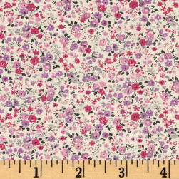 Kaufman Sevenberry Petite Garden Bunches Pink Fabric
