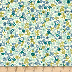 Kaufman Sevenberry Petite Garden Allover Blue Fabric