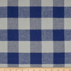 Kaufman Tahoe Flannel Plaids 7.2 Oz Double Brushed Med Buffalo Blue Fabric