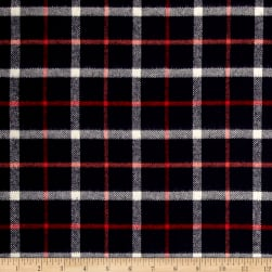 Kaufman Tahoe Flannel Plaids 7.2 Oz Double Brushed Small Check Navy Fabric
