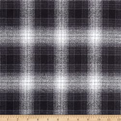 Kaufman Mammoth Flannel Plaids Charcoal Fabric