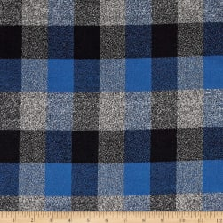 Kaufman Mammoth Flannel Plaids Ocean Fabric