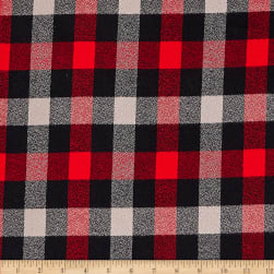 Kaufman Mammoth Flannel Plaids Red Fabric