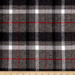 Kaufman Mammoth Flannel Plaids Smoke Fabric