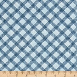 Noah's Story Plaid Blue Fabric