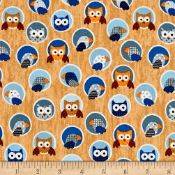 Noah's Story Birds Tan/Brown Fabric