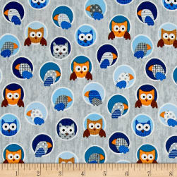 Noah's Story Birds Light Grey Fabric