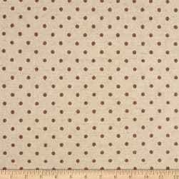 Kaufman Sevenberry Canvas Natural Dots Small Mauve