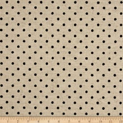 Kaufman Sevenberry Canvas Natural Dots Small Jet Fabric
