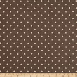 Kaufman Sevenberry Canvas Natural Dots Small Grey Fabric