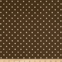 Kaufman Sevenberry Canvas Natural Dots Small Oregano Fabric