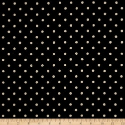 Kaufman Sevenberry Canvas Natural Dots Small Black Fabric