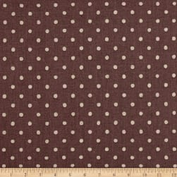 Kaufman Sevenberry Canvas Natural Dots Small Plum Fabric