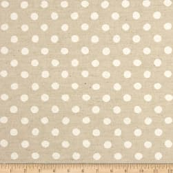 Kaufman Sevenberry Canvas Natural Dots Large White Fabric