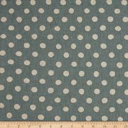 Kaufman Sevenberry Canvas Natural Dots Large Denim Fabric