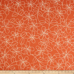 Kaufman Sevenberry Canvas Cotton Flax Prints Etched Flowers