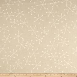 Kaufman Sevenberry Canvas Cotton Flax Prints Geo White