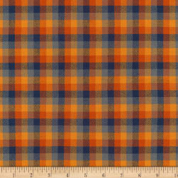 Kaufman Grizzly Plaids 6.6 Oz Twill Plaid Small Sunset