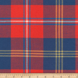 Kaufman Grizzly Plaids 6.6 Oz Twill Plaid Large Plaid Red