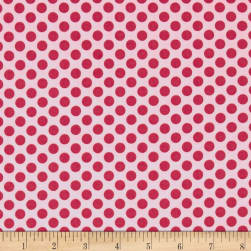 Dear Heart Polka Dot Pink Fabric