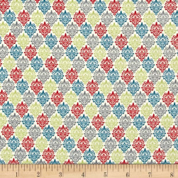 Songbird Small Damask Ecru Multi Fabric