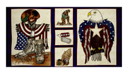 American Honor 24'' Soldier Panel Blue Fabric