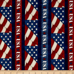American Honor USA Stripe Blue Fabric