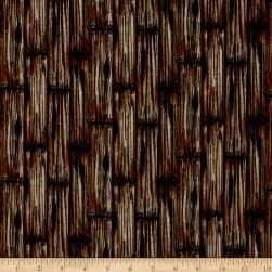 American Honor Wood Grain Brown Fabric