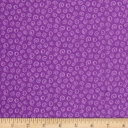 Spring Fling Swirls Purple Fabric