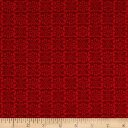 Dogwood Lane Geometric Red