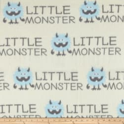 Fleece Prints Little Monsters Blue