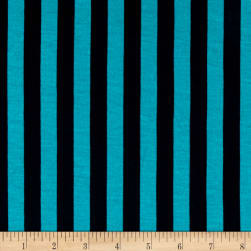 Fashion Jersey Knit Stripe Turquoise Fabric
