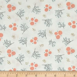 Happy Thoughts Rosettes White Fabric