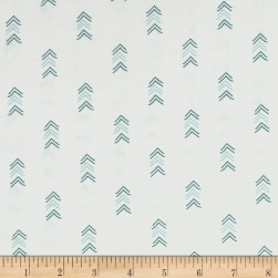 Happy Thoughts Arrows White Fabric
