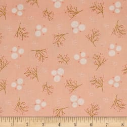 Happy Thoughts Rosettes Peach Fabric