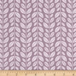 Josephine Tonal Leaves Dark Lilac Grey Fabric