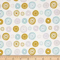 Josephine Circles White Fabric
