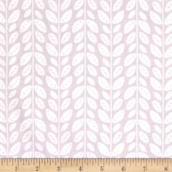 Josephine Tonal Leaves Lilac Grey Fabric