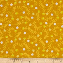 Bright Side Sprigs Golden Yellow Fabric
